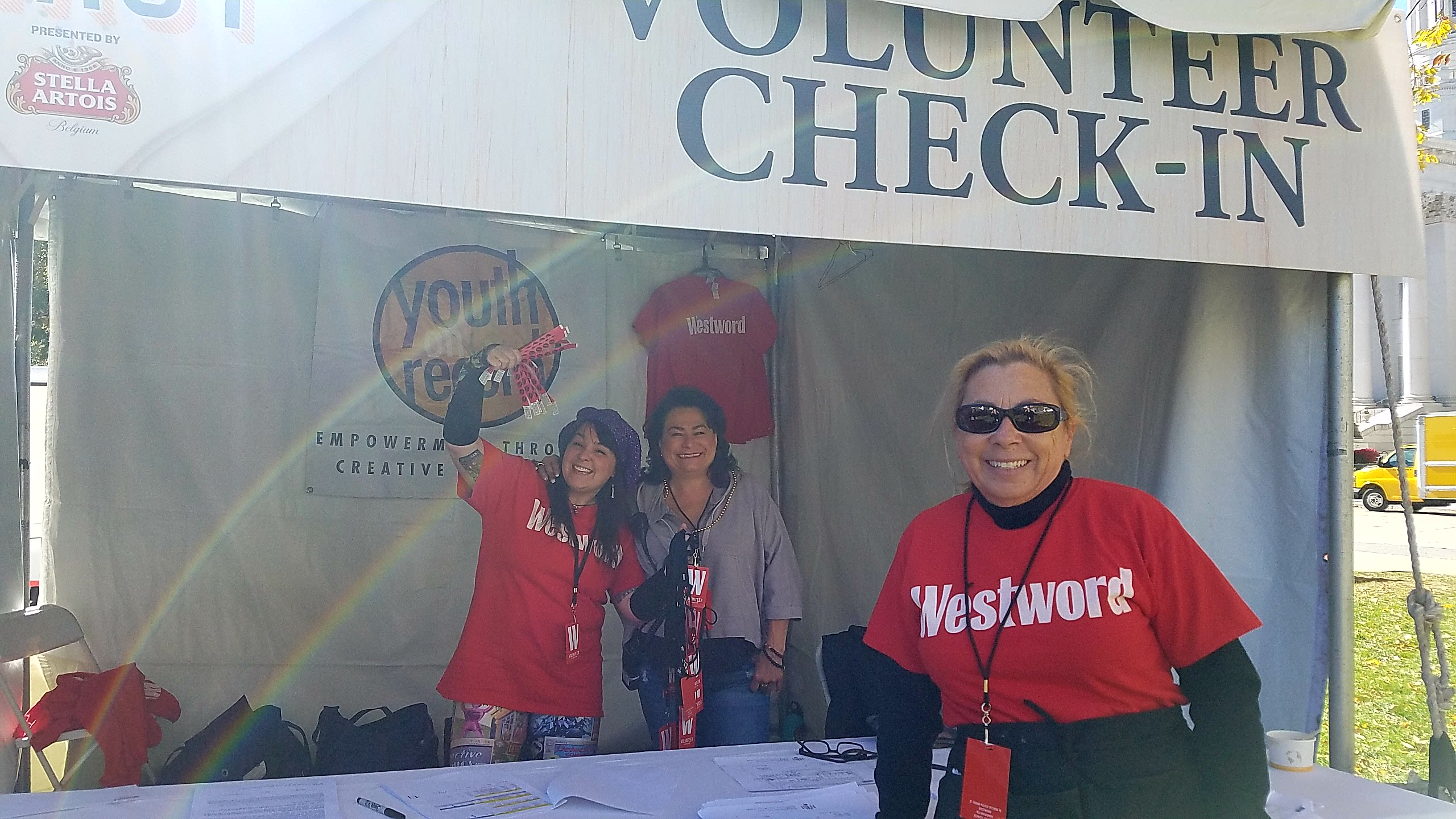 Volunteers at a Westword event