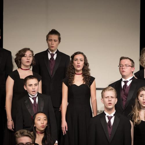 Arvada West's vocal showcase, from which several choir groups raised funds for Youth on Record