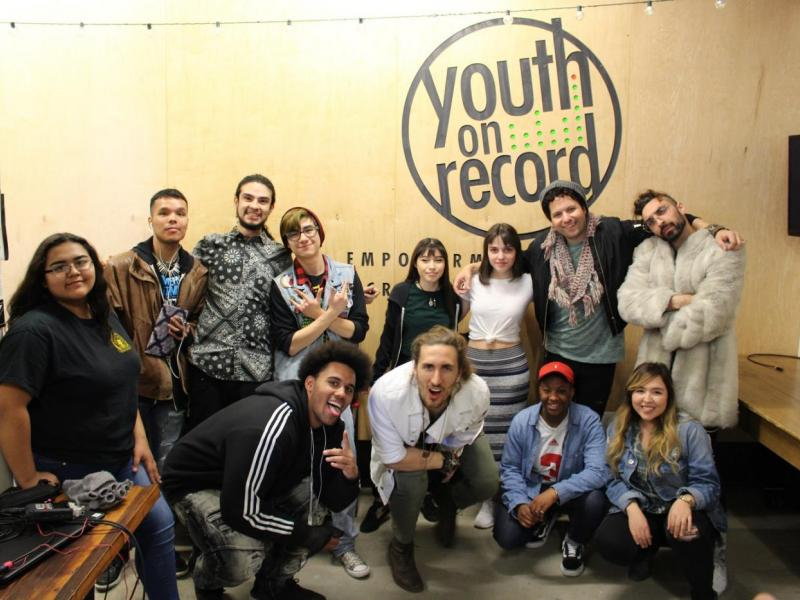 Magic Giant and Youth on Record Students